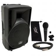 "Harmony Audio HA-C8A Pro DJ 8"" Powered 300W Active PA Speaker & Peavey PV Mic"