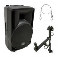"Harmony Audio HA-C8A Pro DJ 8"" Powered 300W Active PA Speaker & Wall Mount Stand"
