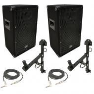"Harmony Audio HA-V10P Pro DJ 10"" Passive 300W PA Speaker 1/4"" Cable & Wall Mount"
