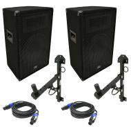 "Harmony Audio HA-V12P DJ 12"" Passive 450W PA Speaker Speakon Cable & Wall Mount"