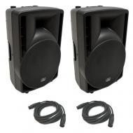 "(2) Harmony Audio HA-C12A Pro DJ 12"" Powered 800W PA Speaker & (2) XLR Cable"