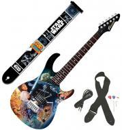 Peavey Star Wars Classic Collage Rockmaster Full Size Maple Neck 21 Fret Electric Guitar & Da...