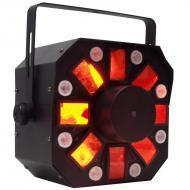 American DJ STINGER 3x5-Watts 3 FX-in-1 Moonflower & Strobe Plus Laser Effect Lighting Fixtur...