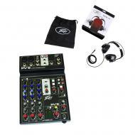 Peavey PV6 New Pro Audio DJ Live Sound 6 Channel Slim Mixer & PVH 11 Headphones