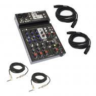 "Peavey PV6 BT New Pro Audio DJ Bluetooth 6 Channel Mixer w/ 1/4"" & XLR Cables"