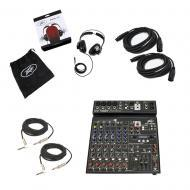 Peavey PV10 BT Pro Audio DJ Bluetooth 10 Channel Mixer PVH 11 Headphones Cables
