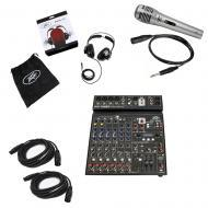 Peavey PV10 BT Pro Audio DJ Bluetooth 10 Channel Mixer PVH 11 Headphones & Mic
