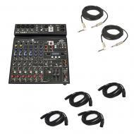 "Peavey PV10 BT Pro Audio DJ Bluetooth 10 Channel Mixer (2) 1/4"" & (4) XLR Cables"