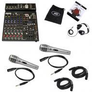 Peavey PV10 AT Pro Audio DJ Auto Tune 10 Channel Mixer w/ Headphones & Mic New