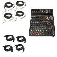 "Peavey PV10 AT Pro Audio DJ Auto Tune 10 Channel Mixer (4) 1/4"" & (4) XLR Cables"