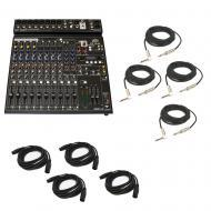 "Peavey PV14 AT Pro Audio DJ Auto Tune 14 Channel Mixer (4) 1/4"" & (4) XLR Cables"