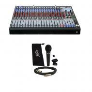 Peavey FX 2 24 Pro Audio 24 Channel Effects Console Studio Mixer & PVi 100 Mic