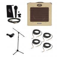 "Peavey Classic Delta Blues 15 Combo 30W Amp 15"" Speaker Mic Stand Cables Package"