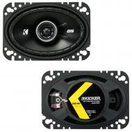 "Kicker 43DSC4604 4""x6"" DS Series 25W RMS 4 Ohm Coaxial Car Audio Speakers DSC46"
