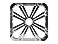 "Kicker 11L710GLCR 10"" Square Chrome Grille for Solo-Baric L7 Subwoofers w/ Accent LEDs"