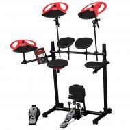 dDrum DD Beta XP Expanded Electronic Drum Kit with Module - Black & Red Accent Finish (DD BET...