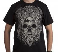 dDrum 100% Cotton Mask T-Shirt Black Color - Medium Size (DD MASK MED)