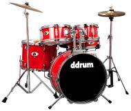dDrum D1 Junior 5-Piece Drum Kit - Candy Red Wrap Finish (D1 CRD)