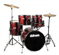 dDrum D120B Series 5-Piece Drum Kit - Blood Red Wrap Finish (D120B BR)