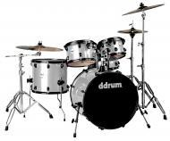 dDrum Journeyman Player Gen2 5-Piece Drum Kit - Silver Sparkle Finish (J2P 522 SILVER SPKL)