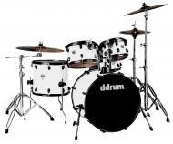 dDrum Journeyman Player Gen2 5-Piece Drum Kit - White Wrap Finish (J2P 522 SILVER SPKL)