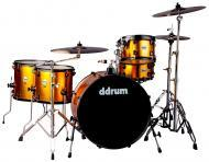 dDrum Journeyman Rambler Gen2 5-Piece Drum Kit - Blaze Orange Wrap Finish (J2R 524 BO)