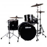 dDrum Max Series 3-Piece Maple Drum Kit w/ 22-inch Bass - Piano Black Laquer Finish (MAX 322 PB)