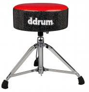 "dDrum Mercury Series Fat Throne with 5.5"" Thick Padding - Red Top/Black Side (MFAT RB)"