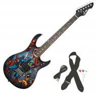 Peavey Rockmaster Marvel Avengers Vertical Full Size Electric Guitar New