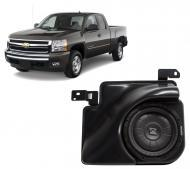 "2007-2013 Chevy Silverado Ext Cab Truck Loaded Kicker Single 10"" 800 Watt Sub Box Enclosure ..."