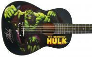 Peavey Marvel Avengers Hulk Graphic 1/2 Size Acoustic Guitar Signed by Stan Lee with Certificate ...
