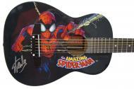 Peavey Marvel Spiderman Graphic 1/2 Size Acoustic Guitar Signed by Stan Lee with Certificate of A...