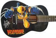 Peavey Marvel X-Men Wolverine Graphic 1/2 Size Acoustic Guitar Signed by Stan Lee with Certificat...