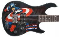 Peavey Marvel Avengers Captain America 3/4 Size Electric Guitar Signed by Stan Lee with Certifica...
