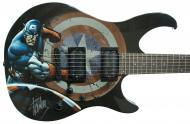 Peavey Marvel Avengers Captain America Predator Electric Guitar Signed by Stan Lee with Certifica...