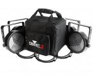 Chauvet SLIMPACK56LT 4 SlimPar 56 Wash Lighting Fixture with DMX Cables and Gear Bag