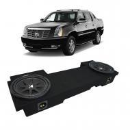 2002-2013 Cadillac Escalade EXT Underseat Kicker Comp C12 Dual 12 Sub Box Enclosure - Final 2 Ohm