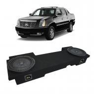 2002-2013 Cadillac Escalade EXT Underseat Kicker CompVT CVT10 Dual 10 Sub Box Enclosure - Final 2...