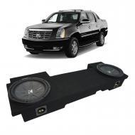 2002-2013 Cadillac Escalade EXT Underseat Kicker CompR CWR10 Dual 10 Sub Box Enclosure - Final 2 Ohm