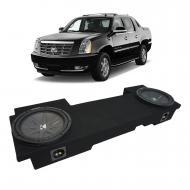 2002-2013 Cadillac Escalade EXT Underseat Kicker CompR CWR12 Dual 12 Sub Box Enclosure - Final 2 Ohm