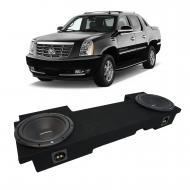 2002-2013 Cadillac Escalade EXT Underseat Rockford Prime R1S410 Dual 10 Sub Box Enclosure - Final...
