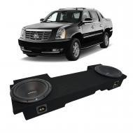 2002-2013 Cadillac Escalade EXT Underseat Rockford Prime R1S412 Dual 12 Sub Box Enclosure - Final...