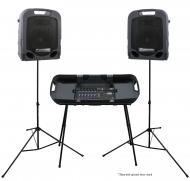 Peavey Escort 3000 Pro Audio DJ All in One 7 CH Mixer & Speakers 300W System