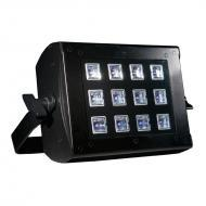 American DJ UV FLOOD 36 12x3-Watt UV LED Blacklight Fixture w/ Dimming & Strobe Effect - Limi...