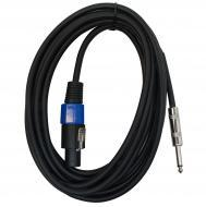 "Harmony Audio HA-SPKQTR15 Pro Audio DJ Speakon Male to 1/4"" Male Jack 15 Foot Speaker Cable"