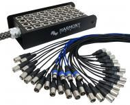 Harmony Audio HA-SB32150 Pro Stage XLR Snake Cable Box 32 Channel - 150 Feet (28 Send, 4 Returns)