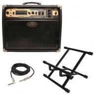 Peavey Ecoustic E110 Acoustic Guitar 100W Combo 2 Channel Amp 10 Speaker & Stand