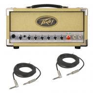 Peavey Classic 20 MH Mini Head Electric Guitar 20W Tube Amp Head & Cables