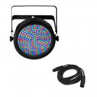 Chauvet SlimPAR 64 DJ Lighting Par Can Wash Color RGB DMX LED Light & Cable - Refurbished