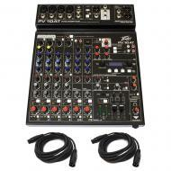 Peavey PV 10 AT Pro Audio DJ 10 Channel Analog Mixer Bluetooth Audio & Cables